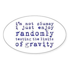 i'm not clumsy - purple Decal