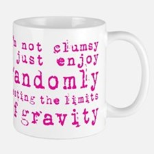 i'm not clumsy - pink Mugs