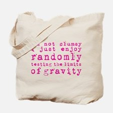 i'm not clumsy - pink Tote Bag