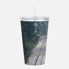 Railroad Track Acrylic Double-wall Tumbler