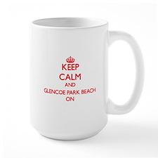 Keep calm and Glencoe Park Beach Illinois ON Mugs