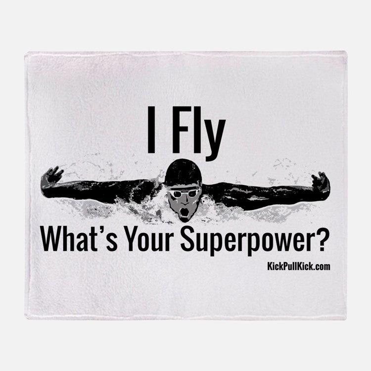I Fly What's Your Superpower? Throw Blanket