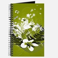 Beautiful white flowers Journal