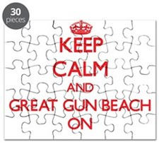 Keep calm and Great Gun Beach New York ON Puzzle