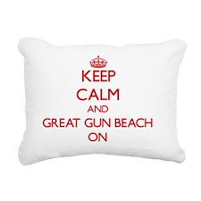 Keep calm and Great Gun Rectangular Canvas Pillow