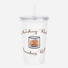 Whiskey Rocks, Bourbon Acrylic Double-wall Tumbler