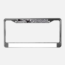 Chaos in Black and White License Plate Frame
