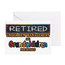 Retired Under New Management Greeting Cards
