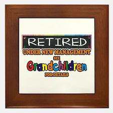 Retired Under New Management Framed Tile