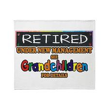 Retired Under New Management Throw Blanket