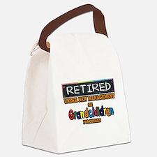 Retired Under New Management Canvas Lunch Bag