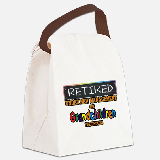 Retired Under New Management Canvas Lunch Bag