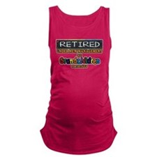 Retired Under New Management Maternity Tank Top