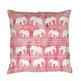 Pink elephant Burlap Pillows