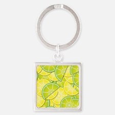 Lemon Lime Square Keychain