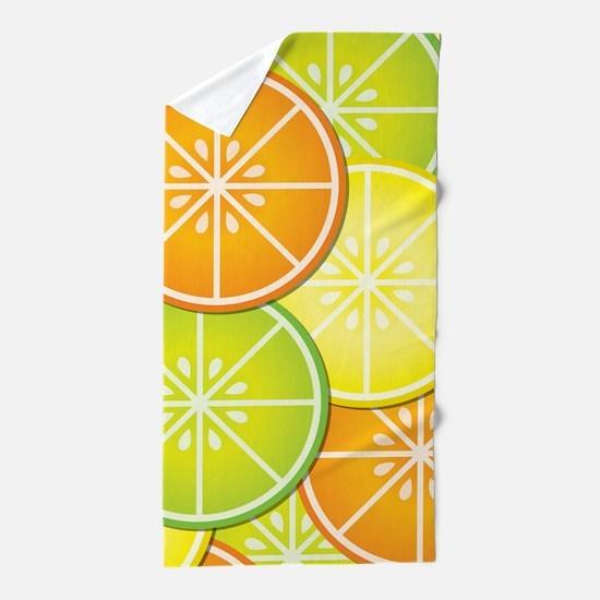 Citrus Fruit Beach Towel