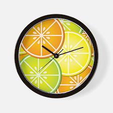 Citrus Fruit Wall Clock