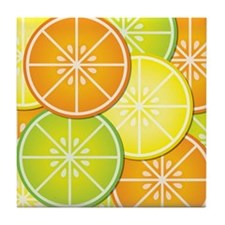 Citrus Fruit Tile Coaster