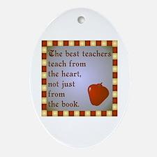 Scott Designs Teachers Heart Oval Ornament