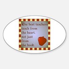 Scott Designs Teachers Heart Oval Decal