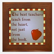 Scott Designs Teachers Heart Framed Tile