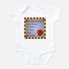 Scott Designs Teachers Heart Infant Bodysuit