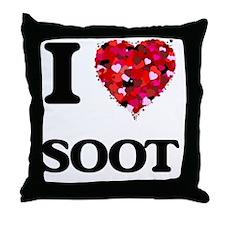 I love Soot Throw Pillow
