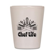 Chef Life Shot Glass