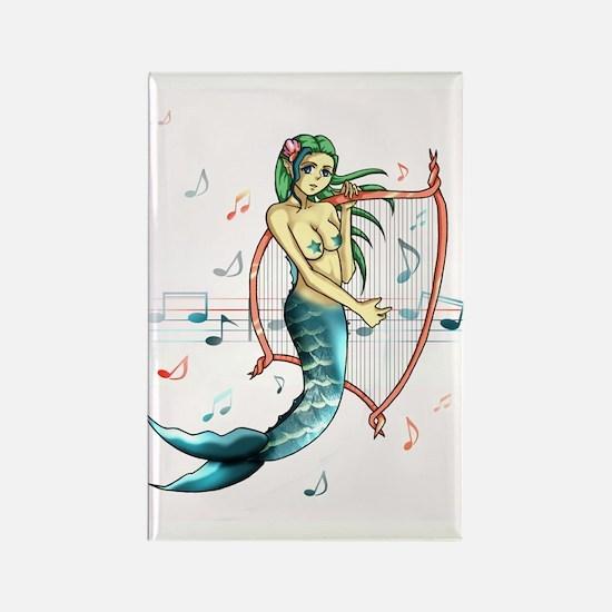 Siren Mermaid Anime Rectangle Magnet