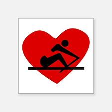 Rowing Heart Sticker