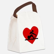 Rowing Heart Canvas Lunch Bag