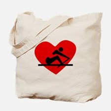 Rowing Heart Tote Bag