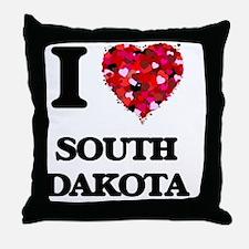 I love South Dakota Throw Pillow