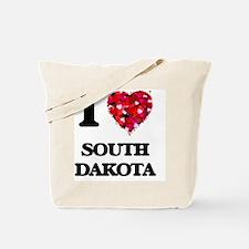 I love South Dakota Tote Bag