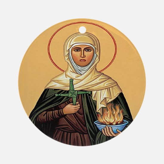 St. Brigid of Ireland Ornament (Round)