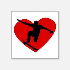 Skateboarding Heart Sticker