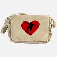 Skateboarding Heart Messenger Bag