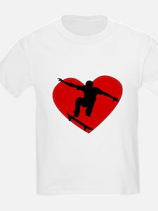 Skateboarding Heart T-Shirt