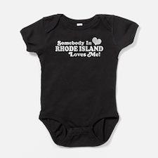 Cute Rhode island Baby Bodysuit
