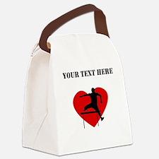 Hurdles Heart (Custom) Canvas Lunch Bag
