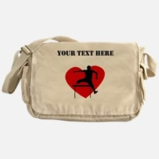 Hurdles Heart (Custom) Messenger Bag