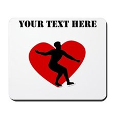 Figure Skating Heart (Custom) Mousepad