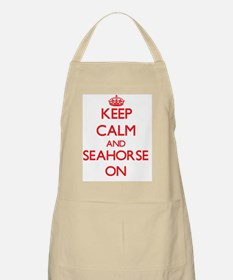 Keep calm and Seahorse Maryland ON Apron