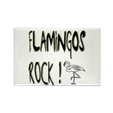 Flamingos Rock ! Rectangle Magnet