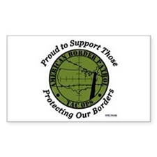 Border Patrol Rectangle Decal
