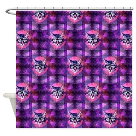 Illuminati Cat Shower Curtain