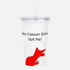 Make Cancer Extinct, N Acrylic Double-wall Tumbler
