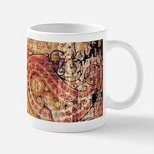 paisley grunge montage Mugs