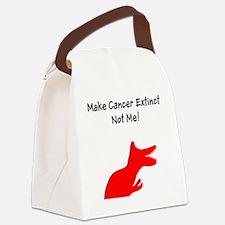 Make Cancer Extinct, Not Me! Canvas Lunch Bag