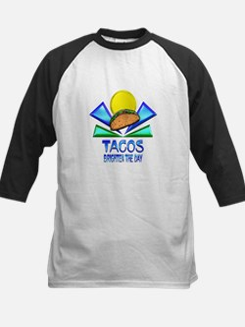 Tacos Brighten the Day Kids Baseball Jersey